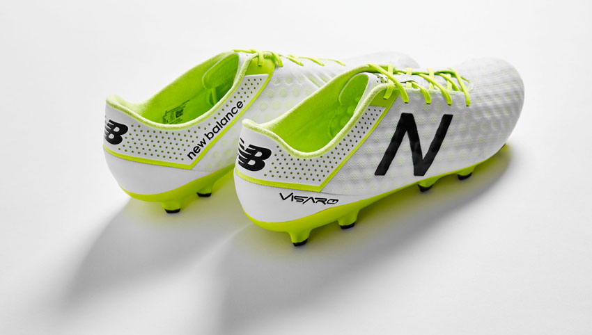 New Balance Visaro in White/Toxic