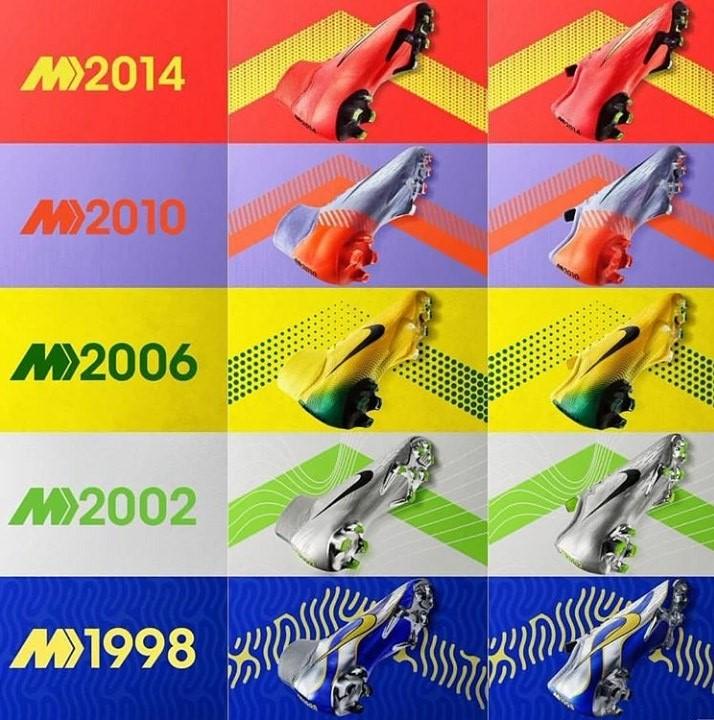 Пять легендарных моделей бутс Mercurial Heritage