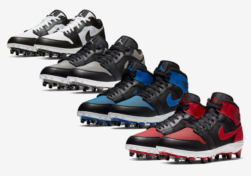 расцветки Air Jordan 1 TD Football Cleat