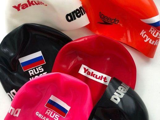 Качественная печать на шапках для плавания